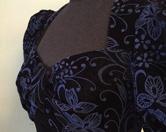 Vintage 1980's Scott McClintock Velvet Dress/Pencil Dress/Designer Dress/1980's Dress/Velvet Vintage Dress/Black Dress/Evening Dress
