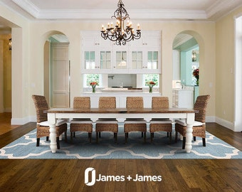Baluster Farmhouse Dining Table - Customizable