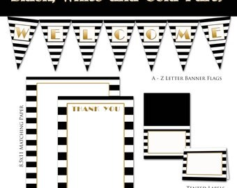 Black White and Gold Mini Party Collection