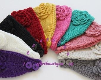 Ear warmer, headband, knit headbands, knit ear warmer, winter headbands, crochet headband, crochet ear warmer, gift for girls, winter turban