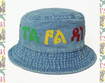 TAFARI [drs] Hat DENIM (Rasta color)