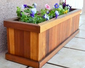 Redwood Planter Box for Windows, Balconies or Decks. Decay resistant