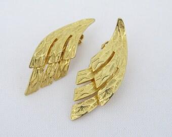 Vintage CORO Jewelry Gold Tone Clip on Earrings