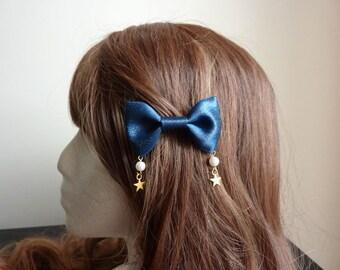 Glitter Pearl Star Hairclip