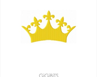 Filled Embroidery Crown Embroidery Design INSTANT DOWNLOAD