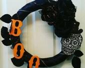 Halloween Wreath, Skull Wreath