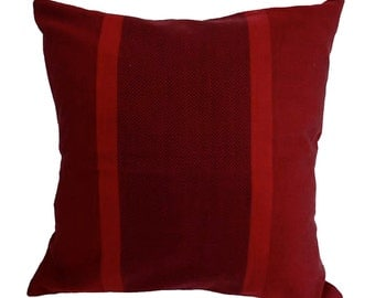 Cushion Cover - REHWA - Dark Red stripes design