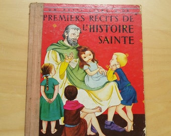 "1950  french   child book "" Recits de l'histoire sainte (Holy Stories) "" , Les 2 coq d'or"
