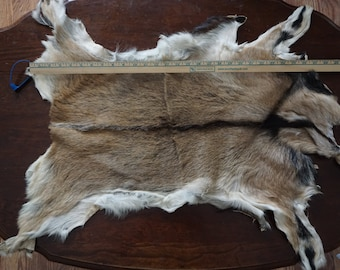 Brown and black goat hide