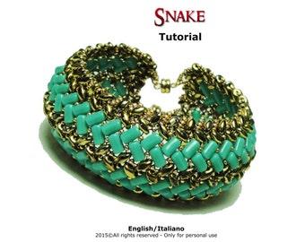 Tutorial Snake Bracelet - beading pattern