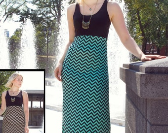 """dress """"Voyer"""" average colors black-Mint made of stretch cotton (was 158.00)"""