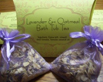 Lavender & Oatmeal Bath Tea