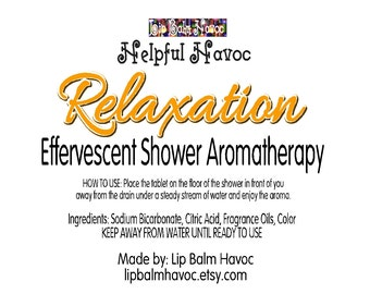 Relaxation - Effervescent Relaxing Shower Aromatherapy - Shower Steamer