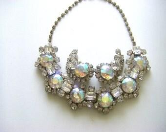 VINTAGE JULIANA SET Aurora Borealis Juliana Vintage necklace and earrings. Juliana Vintage set.