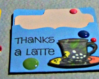 Thanks A Latte...  Set Of 3...  Mini Gift Cards...