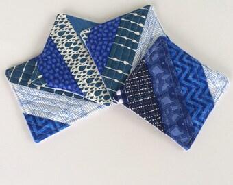 Blue Coasters - Set of 4