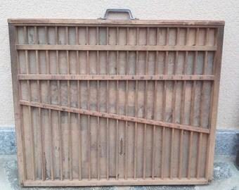 Old wood printer's drawer printer tray display box rustic vintage industrial