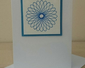 Blank Greetings Card using Spirograph