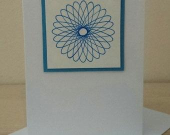 Blank Greetings Card using Spirograph