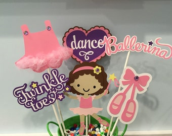 6 piece Ballerina Centerpiece - Dance centerpiece