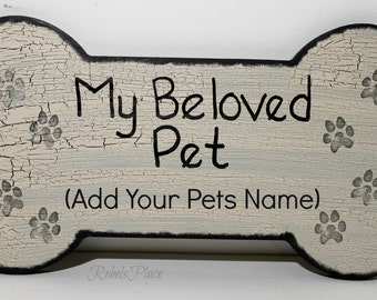 Dog Plaque /Personalized /Pet Lover /Handmade /Bone Sign/Wall hanger
