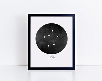 Libra Constellation Art Print • Buyable Frame Option