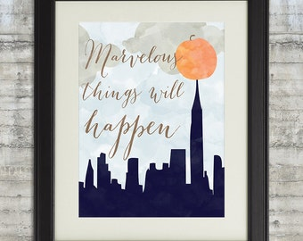 Marvelous Things Will Happen- James and the Giant Peach 8x10 Children's Wall Art, Book Nursery Art or Playroom Art Print