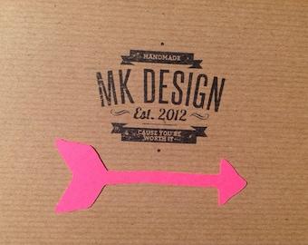 Arrow Paper Cut - Pink Arrow Cut - Contemporary Paper Cuts - Scrapbooking cuts