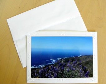 PACIFIC OCEAN Panoramic Photo Greeting Card by Pam's Fab Photos includes Coordinating Envelope