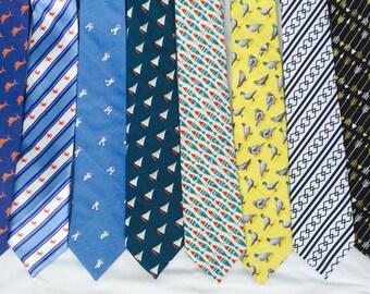 Men's tie, Summer neckties , fish necktie, beach necktie