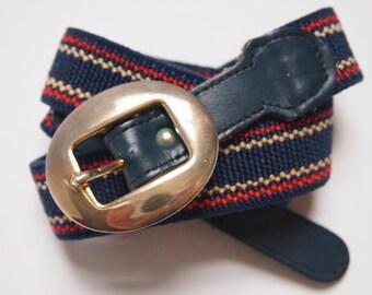 Elastic belt/leather and fabric belt/stretchy belt/90's belt/flexi belt/stripy belt/hipster belt/leather belt/one size belt/folk belt/corset