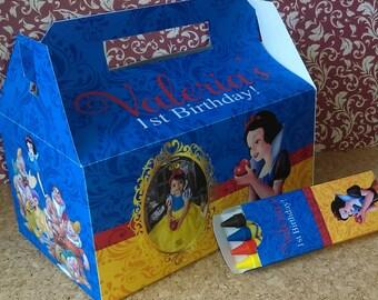 Snow White Personalized Party Favor Box ( SKU# SWFB01 )