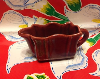 Vintage ceramic burgundy creamer or pitcher- USA