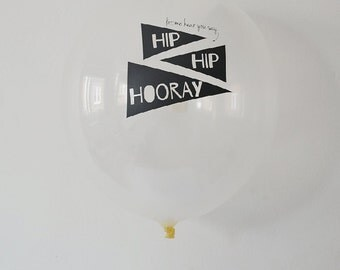 Hooray Balloons | Black