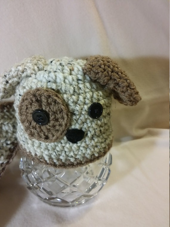 Crochet Dog Hat And Diaper Cover Pattern : PDF Digital Pattern, Adorable Crochet Puppy Hat and Diaper ...