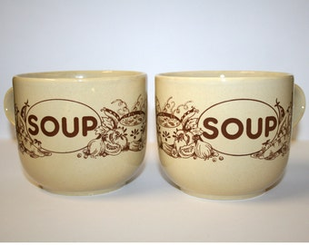 KILNCRAFT Soup Mugs Pair Made in England