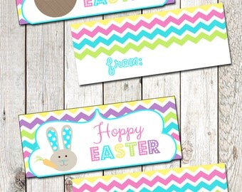 Printable Easter Favor Toppers Easter Bag Toppers Easter Favor Tags