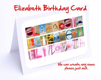 Elizabeth Personalised Birthday Card