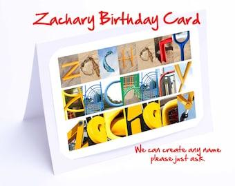 Zachary Personalised Birthday Card