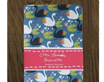 Swan design handmade notebook