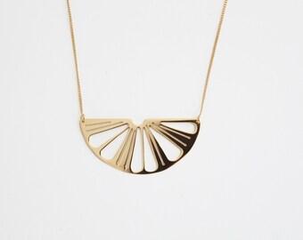 "Necklace ""Lemon"" brass 24-carat gilded or silvered"