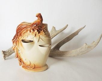 McCoy Bird of Paradise Strawberry Jar, Vase, or Planter Vintage 1950