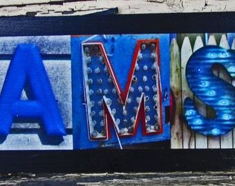 Rams football team, sport sign, photo letter art alphabet art