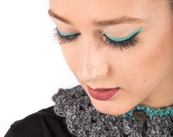 Art 3q/ac Colletto Uncinetto. Sartorial, Made in Italy,Handmade, Atelier,Winter, Everyday,Collar, Crochet.