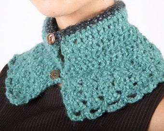 Art 3r/ac Collo Uncinetto. Sartorial, Made in Italy, Handmade, Atelier,Winter, Everyday, Collar, Warm,Crochet.