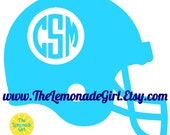 FOOTBALL HELMET DECAL, Personalized Football, Football Sticker, Birthday Party Favor, Football Player, Football Team, Monogram Football