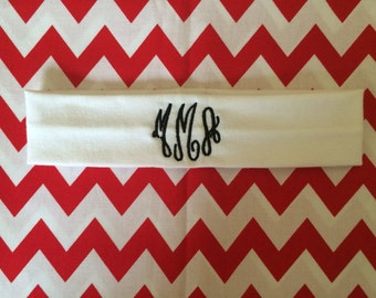 Monogrammed/Embroidered Cotton Headband for Women, Teens and Girls