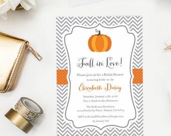 fall bridal shower invitation autumn rehearsal dinner invite pumpkin wedding invitation fall in
