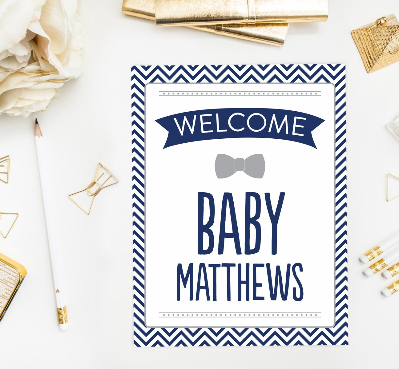 little man welcome sign baby shower banner birthday party