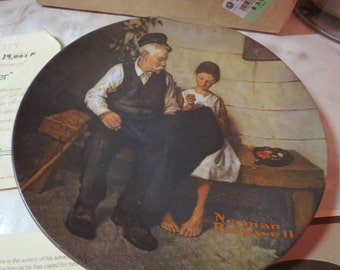 Norman Rockwell Lighthouse Keeper's Daughter Plate 1979/Dish/Platter